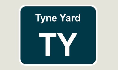 1x Tyne Yard Train Depot Sticker//Decal 100 x 77mm