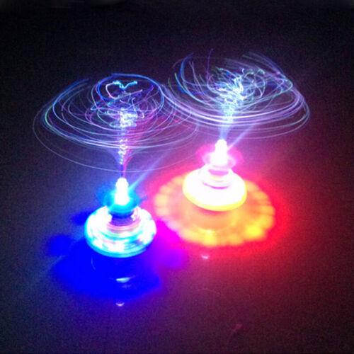 Fun Spinning Top Gyro Spinner LED Music Light Kids Children Toy Christmas S5V0