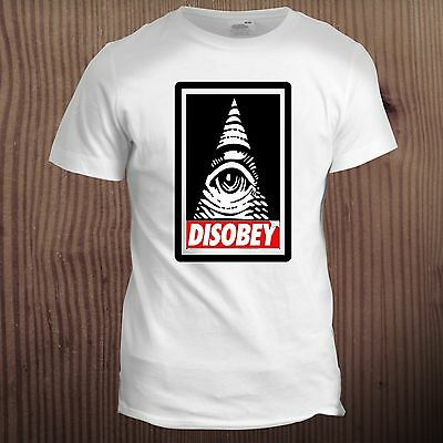 Disobey Anonymous Illuminati Eye Swag Hipster Vendetta Conspiracy T Shirt