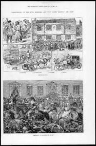 1881-Antique-Print-YORKSHIRE-Hull-Barnsley-West-Riding-Railway-Dock-273