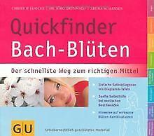 Quickfinder-Bach-Bluten-Der-schnellste-Weg-zum-richtige-Buch-Zustand-gut