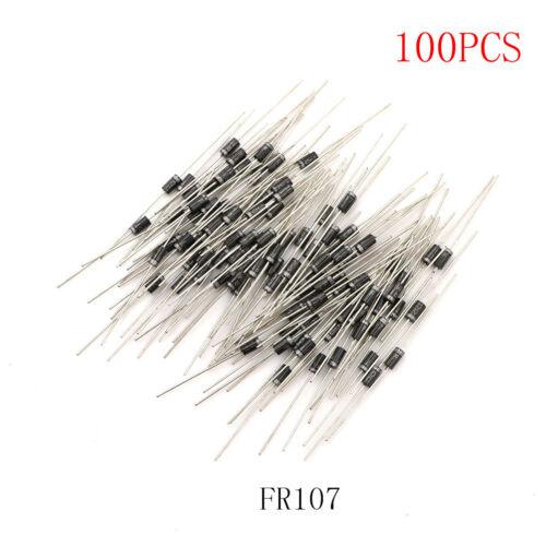 100x Rectifier Diode FR107 1A 1000V DO-41 FR107 Hot CN