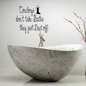 Image Is Loading COWBOYS DON 039 T TAKE BATHS COUNTRY WORDS