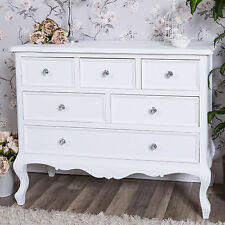 new concept 57870 16487 Large White Chest of Drawers French Shabby Vintage Chic Bedroom Furniture  Ornate