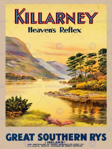 TRAVEL TOURISM HEAVENS REFLEX KILLARNEY IRELAND 30X40CM ART PRINT POSTER BB9883