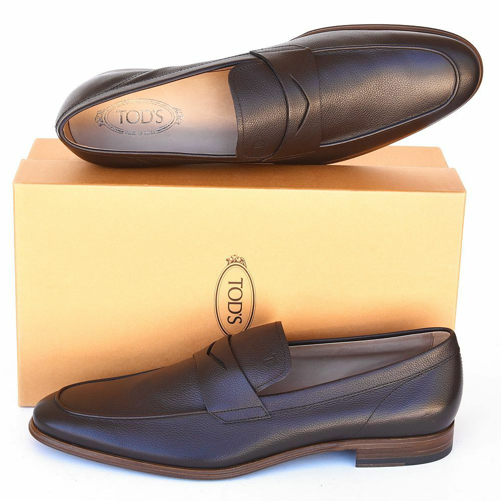 TOD'S Tods New New New sz UK 12.5 - US 13.5 Mens Designer Logo Dress Loafers schuhe braun bdf57b