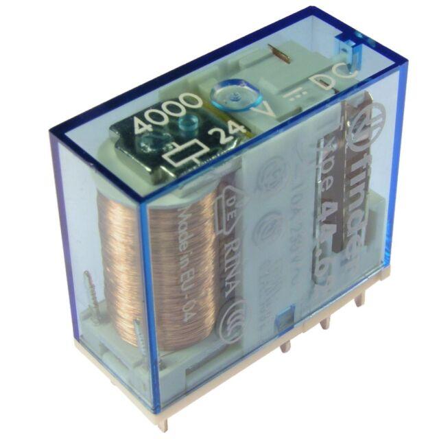 Finder 44.62.9.024.4000 Relais 24V DC 2xUM 10A 900R 250V AC Relay AgSnO2 854995