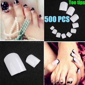 Image Is Loading 500pcs Plastic Artificial Fake Toenail Full Cover False