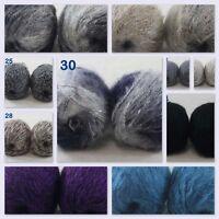 Sale 2 balls soft DK MOHAIR 50% Angora goats Cashmere 50% silk Yarn Knitting B