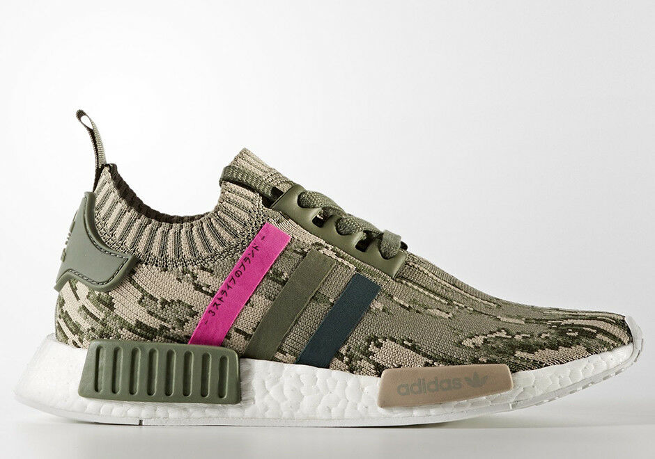NEW WOMENS ADIDAS NMD_R1 W PK SNEAKERS BY9864-SHOES-SIZE 9,10