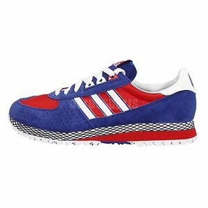 Adidas City Marathon PT Nigo Blue Red White 80s Style Mens Running ... 30d4cfad1