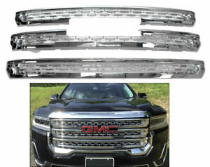 Chrome Grille Overlay Trims (3 Pieces Kit) FOR 2020 2021 GMC ACADIA SLE SLT AT4