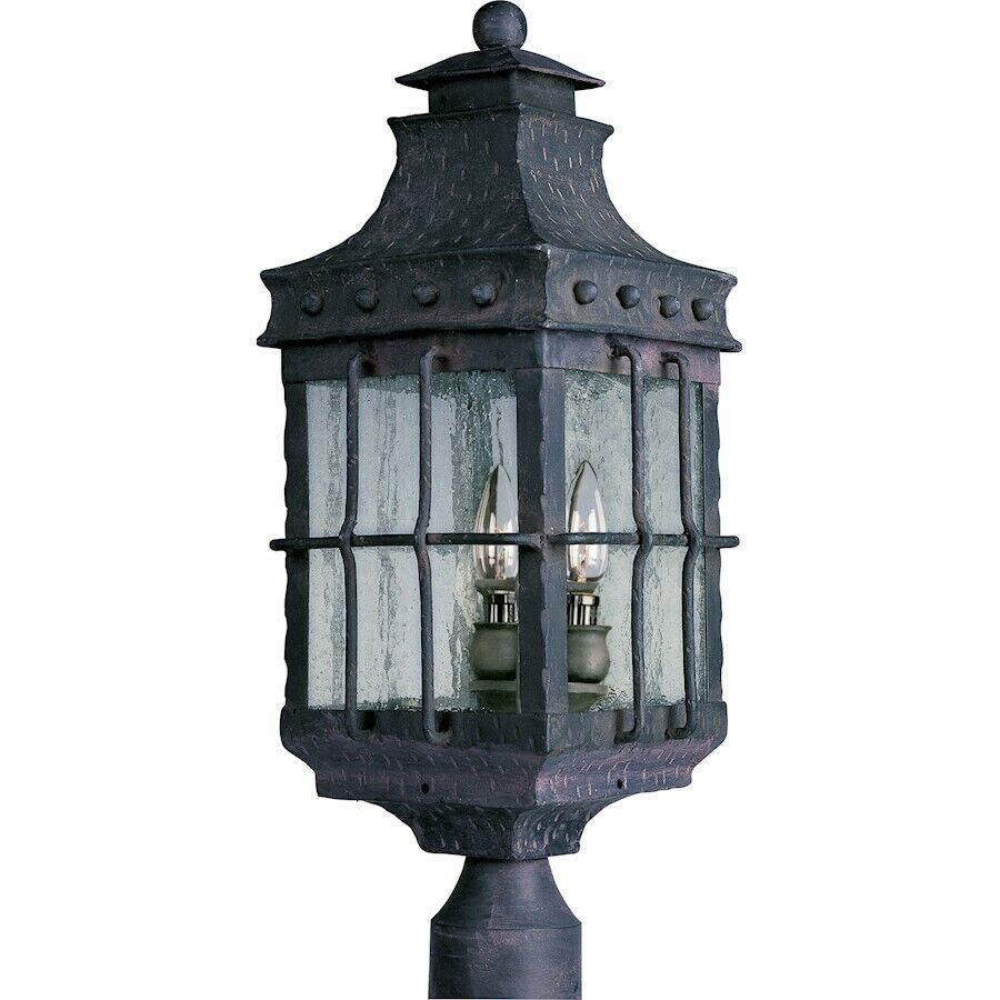 Maxim Nantucket Nantucket Nantucket 3-Light Outdoor Post Lantern Country Forge - 30080CDCF 529568