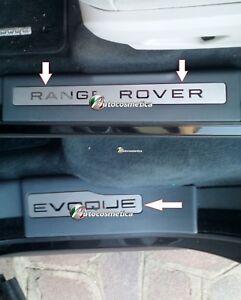 RANGE-ROVER-EVOQUE-PORTA-Davanzale-Lastre-battistrada-Set-completo-di-4-L-ORO-Cromato