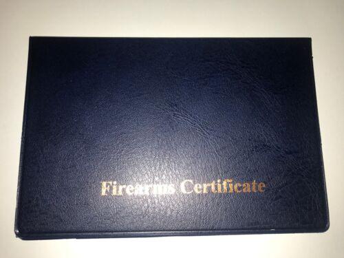 Un seul BLEU//OR-Armes à feu//certificat Titulaire de la licence//Portefeuille-SGC//AEC