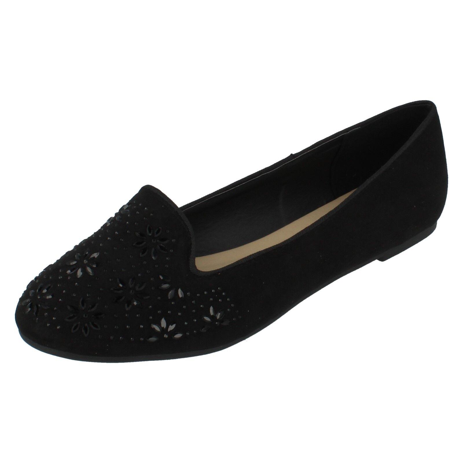 Mujer Zapatos Spot On Textil Negro  Zapatos Mujer  Sin Cordones Estampado De Flores f80305 3d74c7