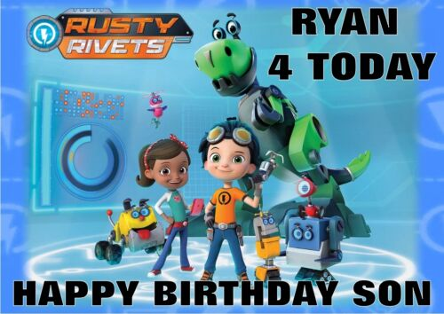 personalised birthday card Rusty Rivet any name//age//relation
