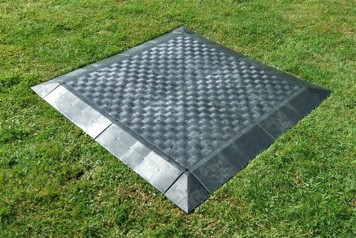 8m² Vorzeltboden/Zeltboden/Bodenplatten aus Kunststoff - Campingboden 50x50x5 cm cm cm 8e64d4