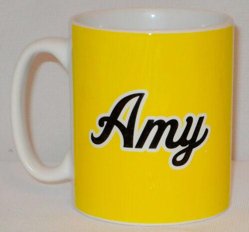 Yellow Mug PERSONALISED With NAME Birthday Secret Santa Xmas Sunshine Sun Gift
