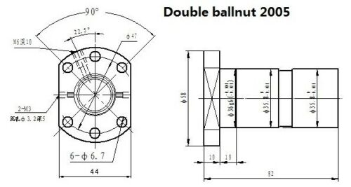 for  PM30 Milling machine PM-30 DFU DOUBLE ball nuts ballscrews