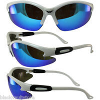 Safety Shop Glasses With White Frame And G-tech Blue Lenses