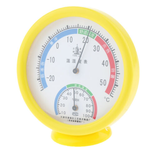 Solid Thermo-Hygrometer Thermometer Temperature Humidity Gauge Meter Monitor