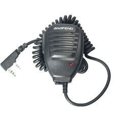 Microphone 2 Pin Baofeng PTT Speaker Mic for Kenwood BAOFENG UV-5R TYT WOUXUN