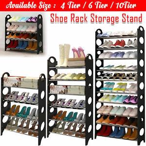 4-6-8 Niveaux Rangement De Chaussures Étagère rack Stand Organisateur 12-18-24 Paires Chaussures-afficher le titre d`origine JO0pRkfW-07204159-181958294
