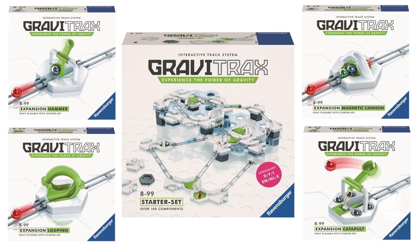 GRAVITRAX + ACCESSORIES  Starter Set Ravensburger 27597 + 4 Extensions