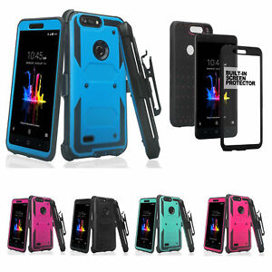 the latest ee3bb 06aa4 Details about ZTE ZFive G Case, ZFive C, Z557BL Z558VL, Built-in Screen  Protector Holster Clip