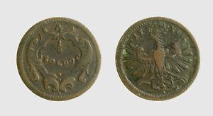 Audacieux S727_4) Trento. Carlo Vi (1711-1740). Mezzo Soldo 1739 Riche Et Magnifique