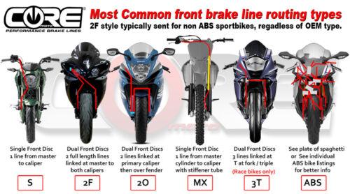 HONDA CRF250L 2013-2015 CORE MOTO STEEL BRAIDED MX FRONT BRAKE LINE KIT