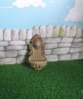 1:12 Scale Non Working Resin Lion Head Fountain /& Tap Tumdee Dolls House Garden