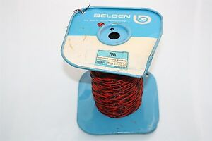 Belden-11087-50-FT-Teflon-Twisted-Cable-22-AWG-61180-2220-BLK-RED-2-Conductors