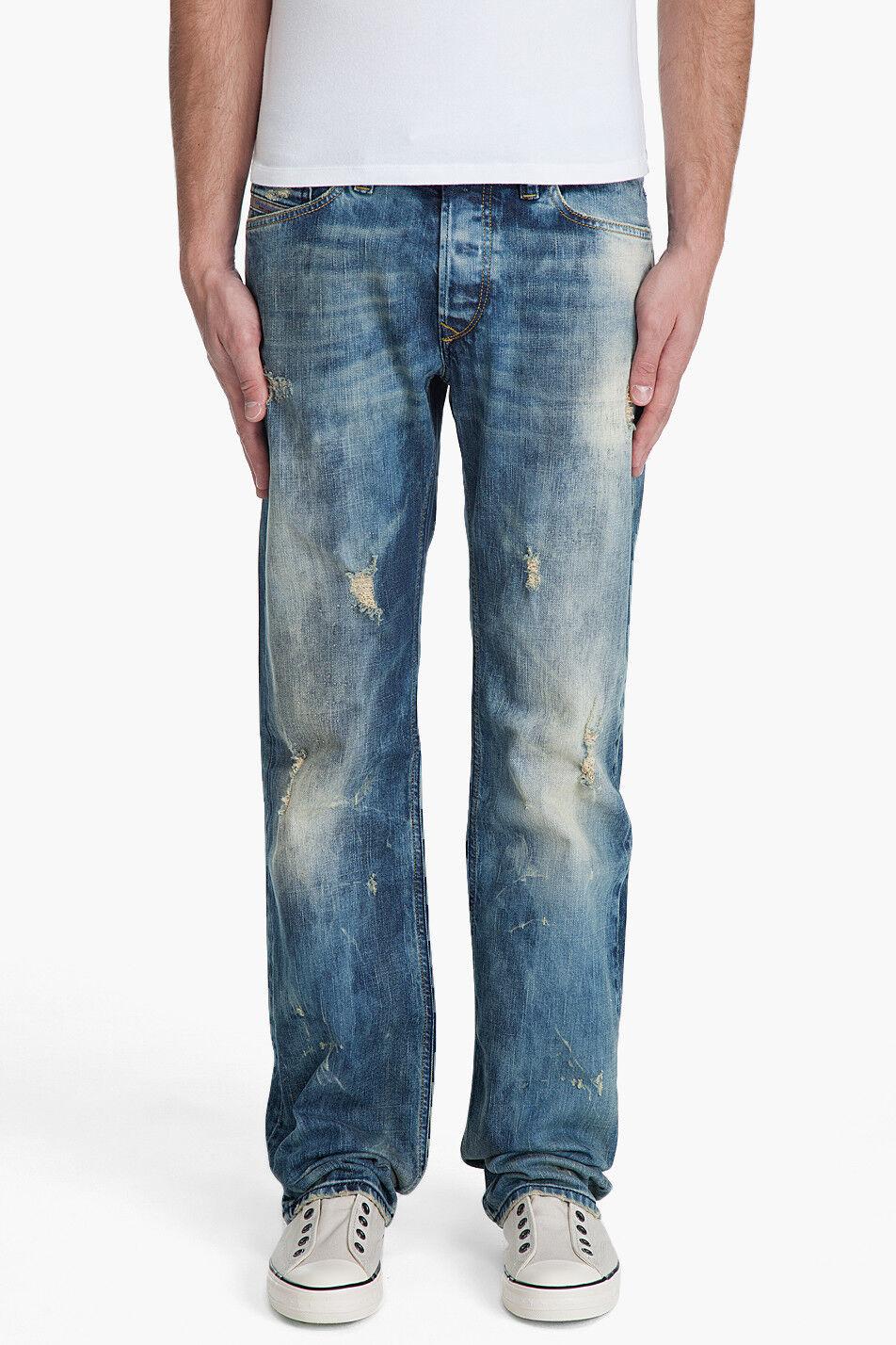 New Diesel Viker-R-Box 8N1_Stretch bluee Eyecons Straight Leg Jeans 28 32