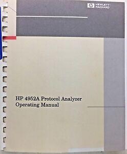 hp 4952a protocol analyzer operating manual p n 04952 90082 ebay rh ebay com HP 251-A123w Manuals HP Officejet Pro 8500A Manual