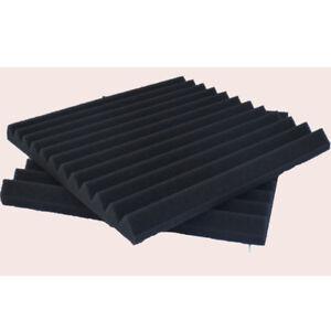 Details About 24 Pack Soundproofing Foam Black Acoustic Wall Panels Studio Wedge Tile Ktv
