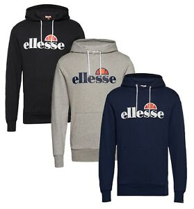 ellesse Mens Cotton Overhead Brisbane Lightweight Hooded Sweatshirt Top Hoodie