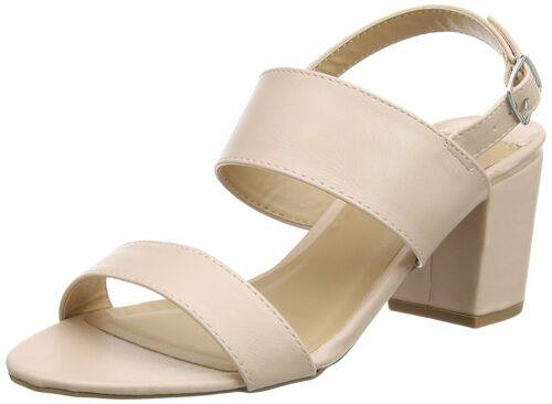 DOROTHY PERKINS SIZE 4 6 7 NUDE BLUSH PINK PEACH MID BLOCK HEEL SHOES SANDALS BN