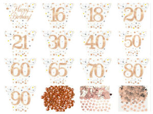 12ft-Rose-Gold-Sparkling-Fizz-Metallic-Birthday-Banner-Party-BUNTING-Garland