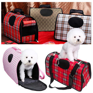 Pet-Dog-Cat-Puppy-Portable-Travel-Carry-Carrier-Tote-Cage-Bag-Crates-Kennel-UK