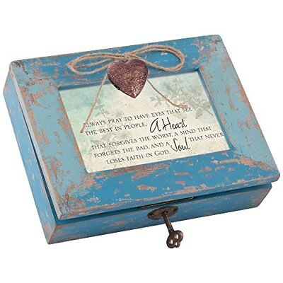 Cottage Garden Dear Friend Blessed Blush Pink Locket Petite Music Box Plays You Light Up My Life