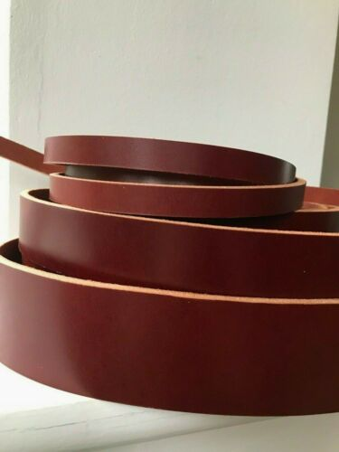 170cm long Red Brown Veg Tan Grain Leather Strap Belt Blank Strip 4-5mm thick