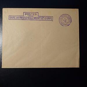 AgréAble Lettre Cover Postes Gare De Rassemblement 12éme Corps Violet 1915 Diversifié Dans L'Emballage