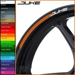 KTM DUKE Wheel Rim Stickers Decals - 20 Colours - 790 890 690 390 640 125 200 r