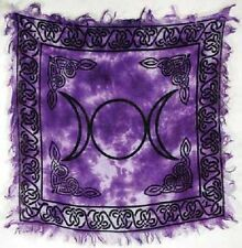 Triple Moon ALTAR CLOTH 18 x 18 inch Purple Wiccan Witch Pagan FREE SHIPPING