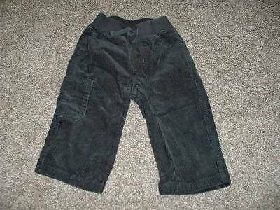 Gymboree Baby Boys Dark Gray Corduroy Pants Size 6-12 months mos Bottoms Winter