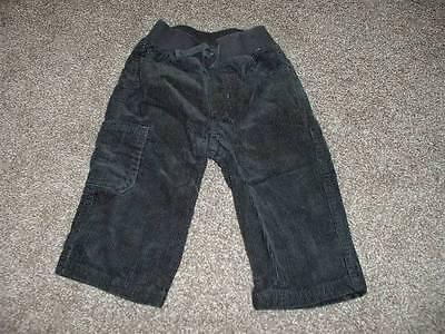 Gymboree Baby Boys Dark Gray Corduroy Pants Size 6-12 months mos Bottoms Winter