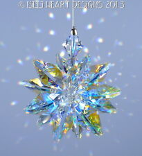 m/w Swarovski Crystal AURORA Tiny Car Charm Star Suncatcher Lilli Heart Designs