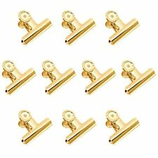 Gold Binder Clips 10 Pack 2 Inch Stainless Steel Large Metal Bulldoghinge For